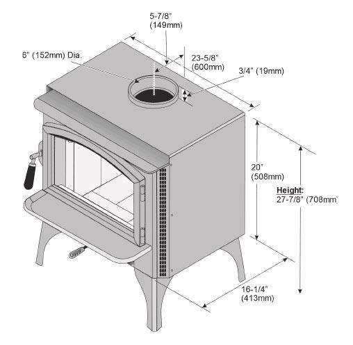 lopi answer 2020 freestanding wood heater 4