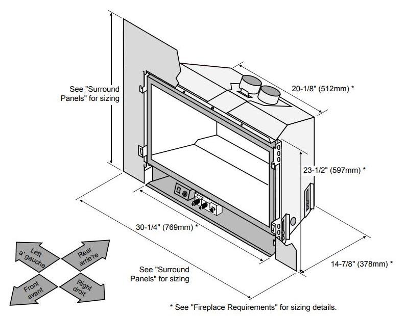 lopiradiant plus large gas insert heater 3