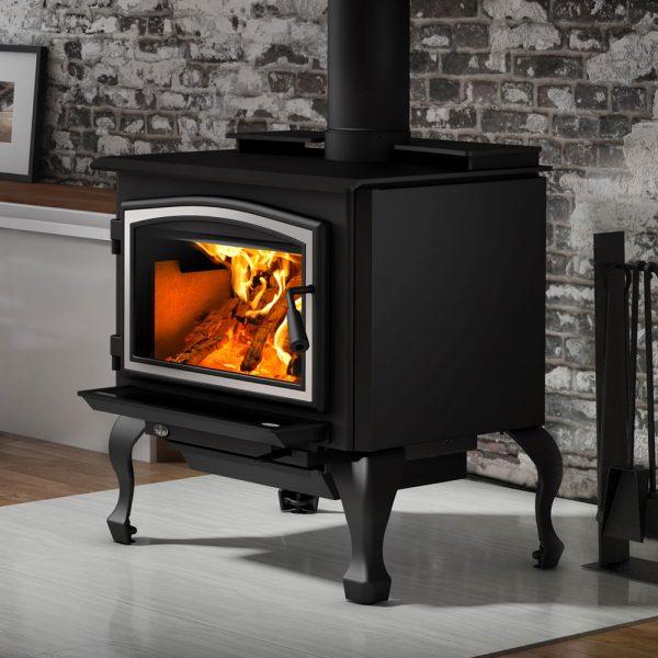 Osburn Silver Detailed Freestanding Wood Heater Adelaide