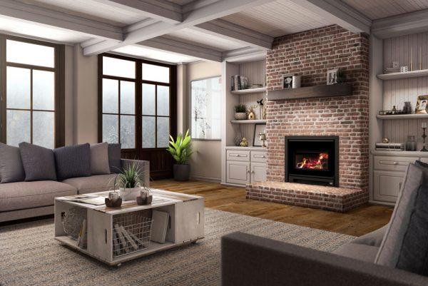 Osburn Built in Wall Modern Wood Heater Adelaide