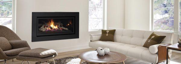 Regency Black Modern Fireplace Gas Heater Adelaide