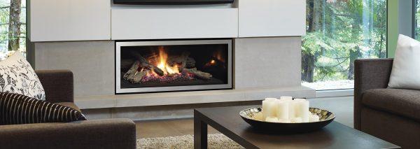 Regency Steel Look Finish Gas Fireplace Adelaide